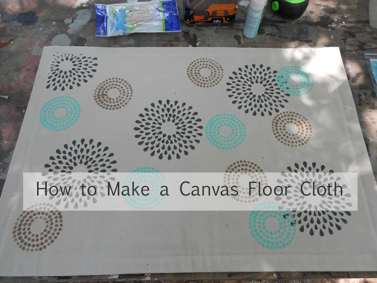 how to make a canvas floor cloth the craft alternative. Black Bedroom Furniture Sets. Home Design Ideas