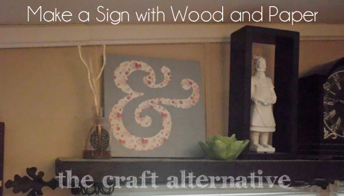 How to Make a Wood Sign with a Paper Background 8