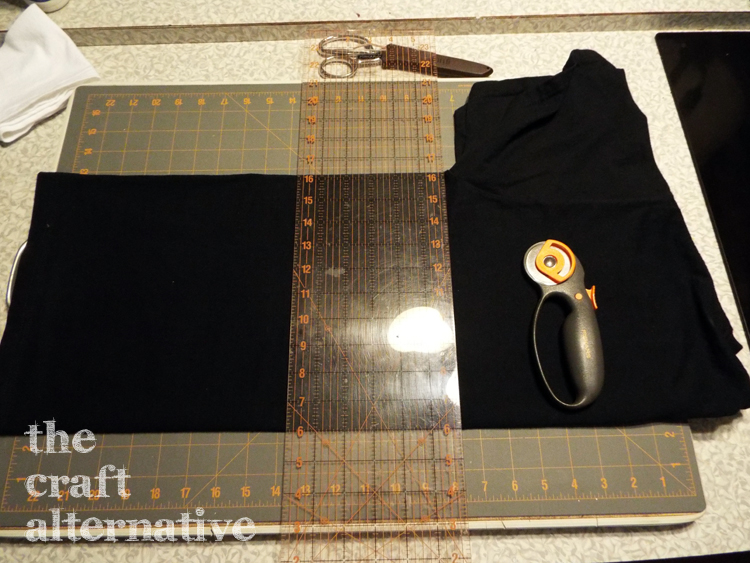 How to Make a T-Shirt into a Dress - lower skirt