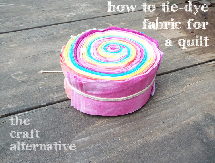 How to Tie Dye Fabric for a Quilt DSCF1932