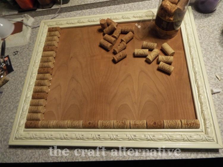 Making a Cork Board with Wine Corks DSCF2289