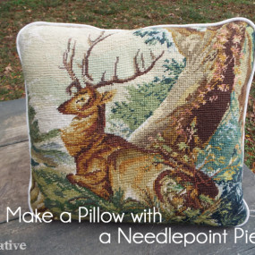 A Beautiful Piece of Needlepoint Makes a Gorgeous Pillow!