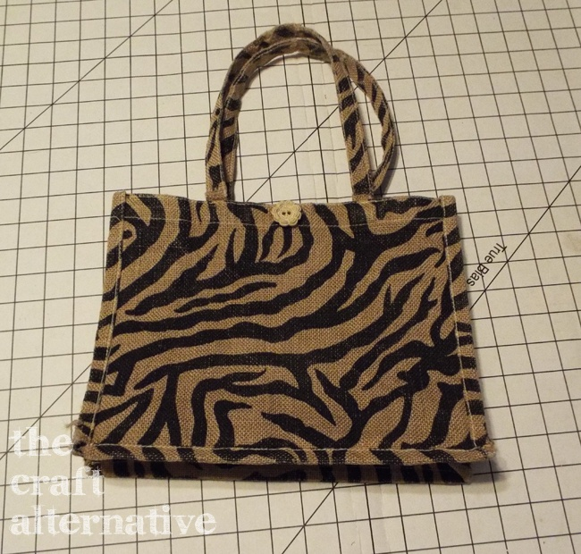 How to Make a Lined Burlap Lunch Bag_Old Lunch Bag