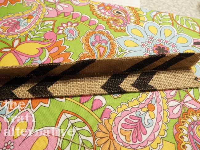 How to Make a Lined Burlap Lunch Bag_Strap Fold
