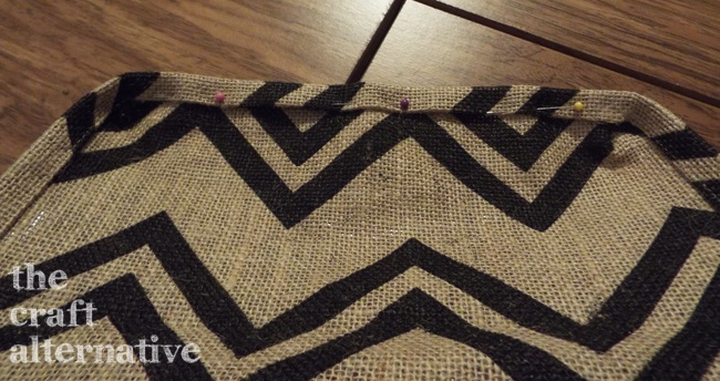 How to Make a Lined Burlap Lunch Bag_Bottom