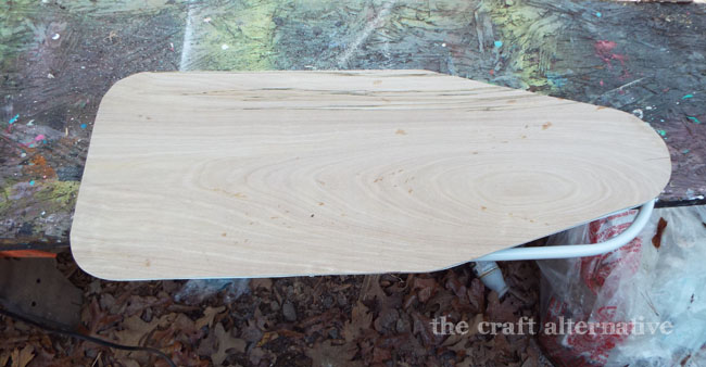How to Make a Cover for a Travel Ironing Board_Cut Plywood