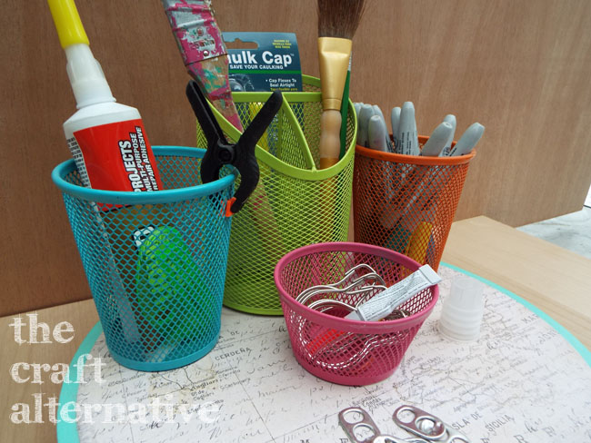 How to Make a Lazy Susan Organizer_Colors