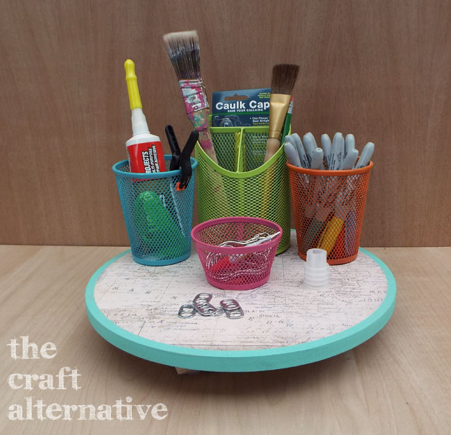 How to Make a Lazy Susan Organizer_Front View