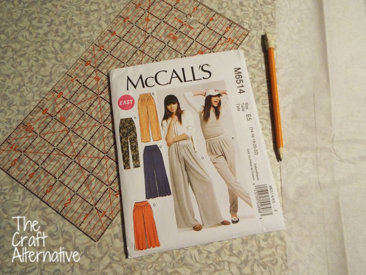 How to Lengthen a Pants Pattern_Supplies