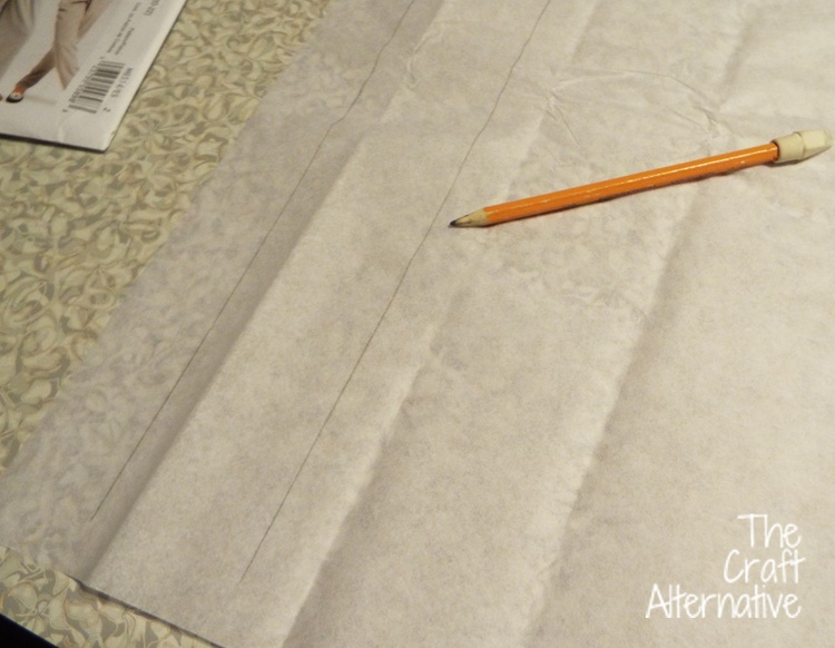 How to Lengthen a Pants Pattern_Lines on Tissue