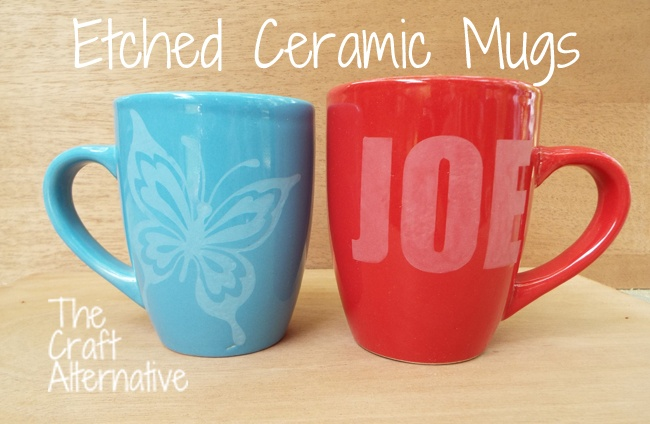 Etched Ceramic Mugs