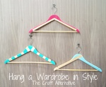 Hang a Wardrobe in Style with Painted Hangers