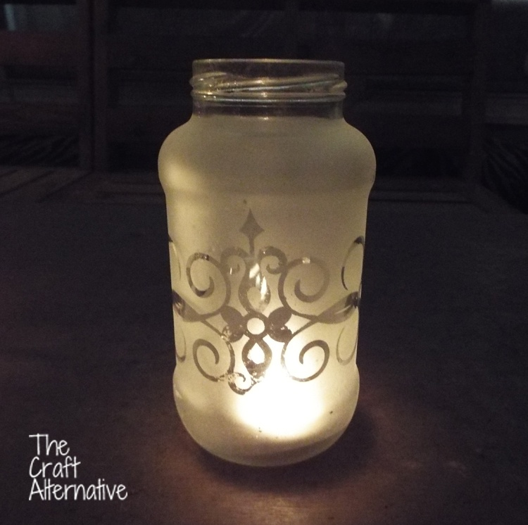 Easy to Make Frosted Jar Lanterns_Scroll