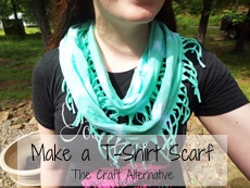 Make a Fabulous Scarf with a T-Shirt