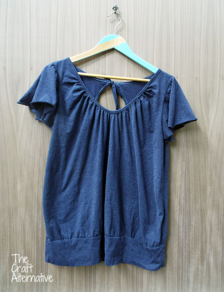 The Ariadne Tunic Made with Men's T-Shirts_Front