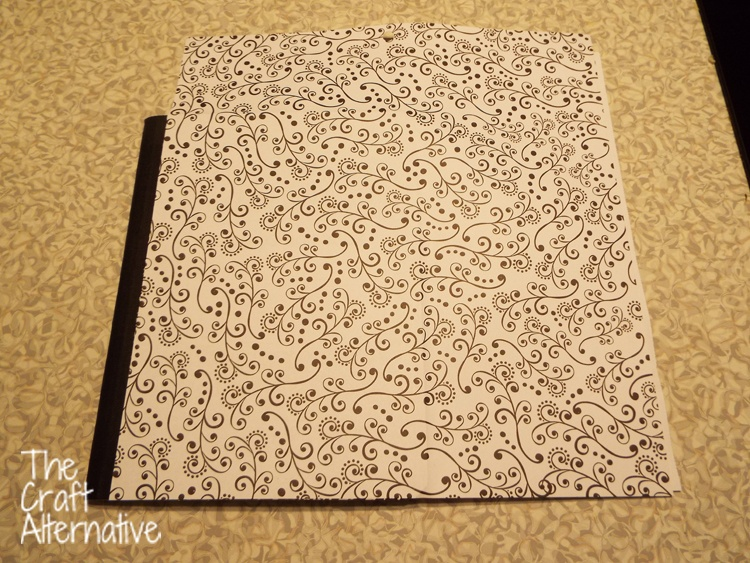 Adding Scrapbooking Paper and Washi Tape to a Composition Notebook_Front