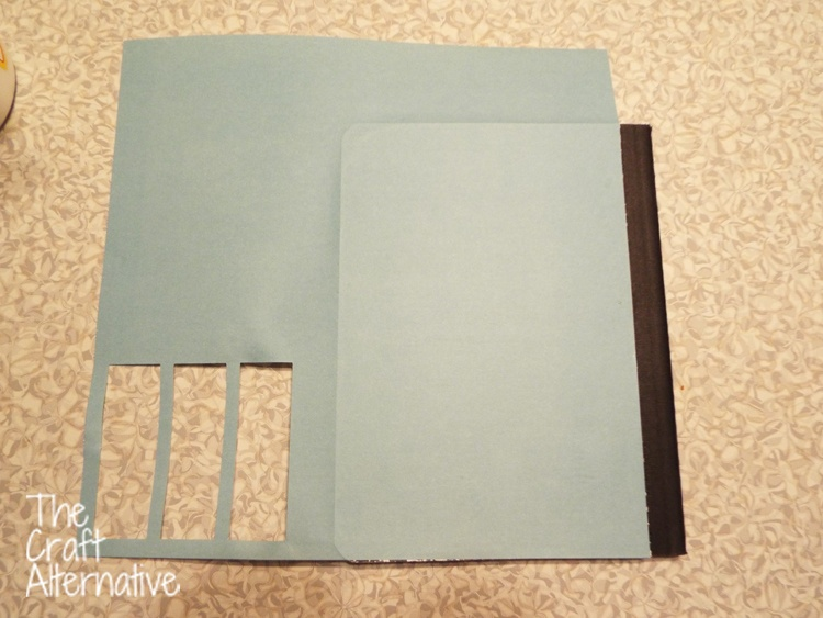 Adding Scrapbooking Paper and Washi Tape to a Composition Notebook_Back