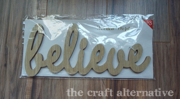 diy word wall art - MDF piece