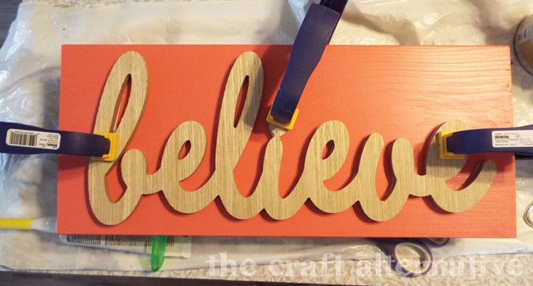 diy word wall art - adhesive
