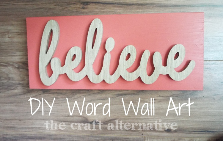 diy word wall art