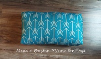 An Easy to Make Bolster Pillow for Yoga