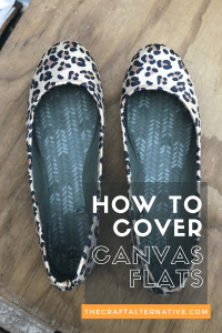 how to cover canvas flats fabric pinterest
