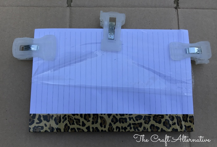 how to make a ribbon notebook_clips on paper