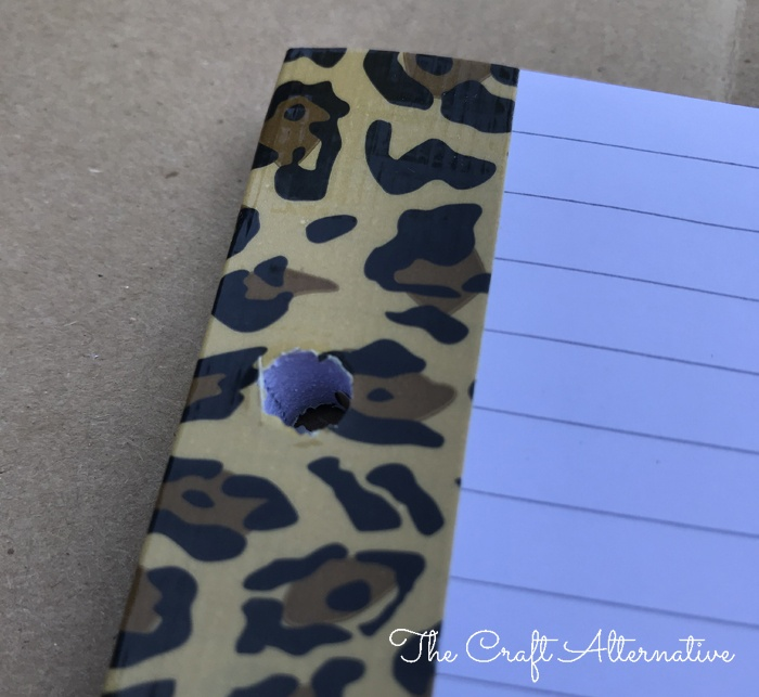 how to make a ribbon notebook_duct tape binding