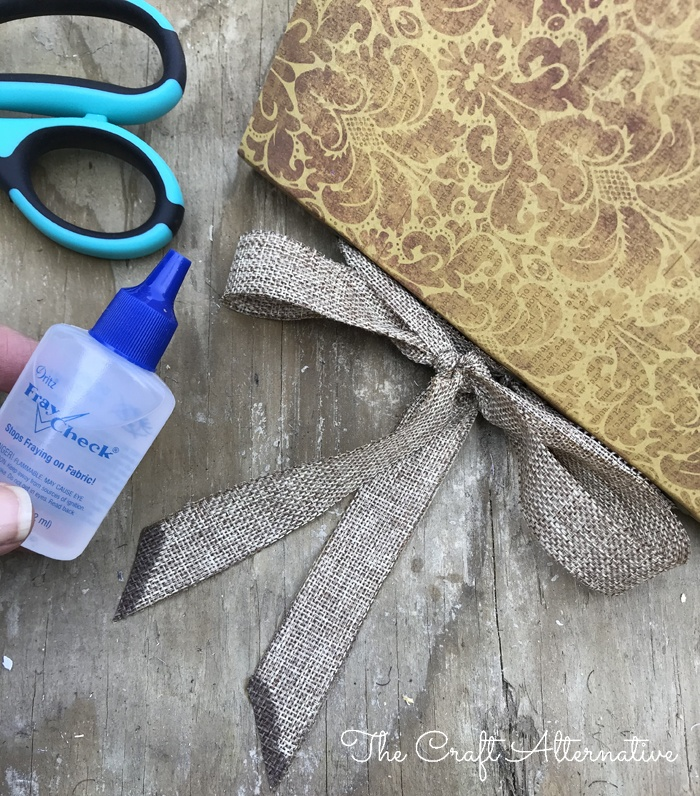 how to make a ribbon notebook_Fray Check