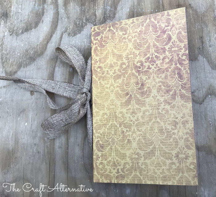 how to make a ribbon notebook