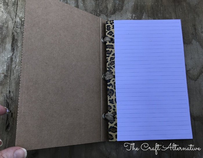 how to make a ribbon notebook_open
